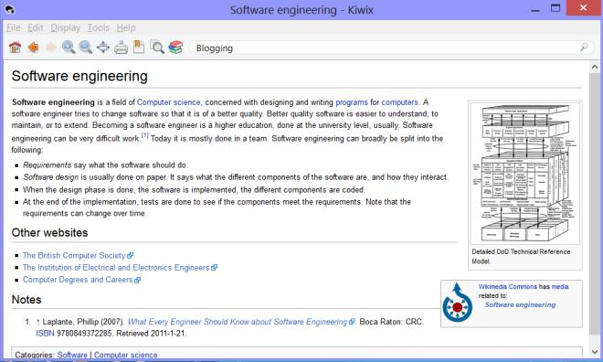 kiwix wikipedia offline reader