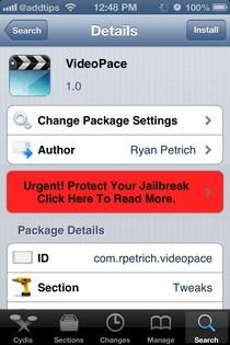 VideoPace iOS Cydia