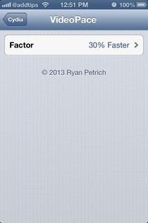 VideoPace iOS Settings