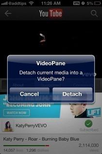 VideoPane iOS Notification