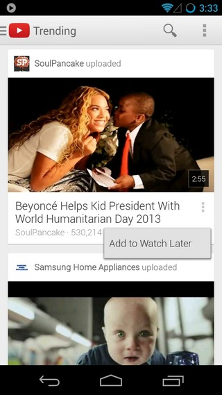 YouTube Android Redesign