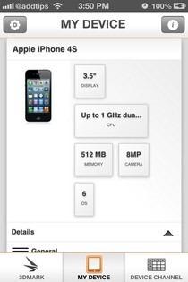 3DMark iOS My Device