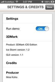 3DMark iOS Settings