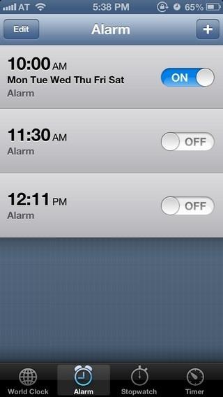 Alarm iOS 6