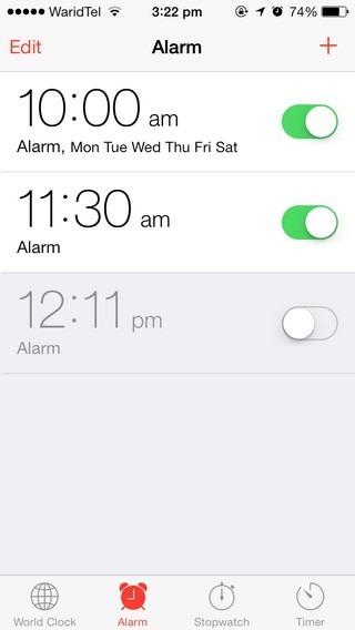 Alarm iOS 7