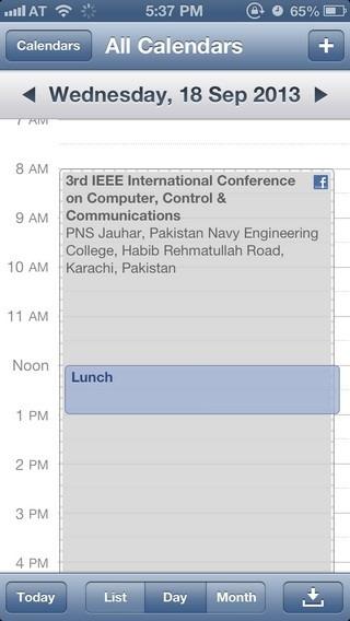 Calendar iOS 6