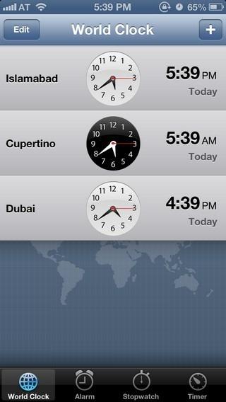 Clock iOS 6