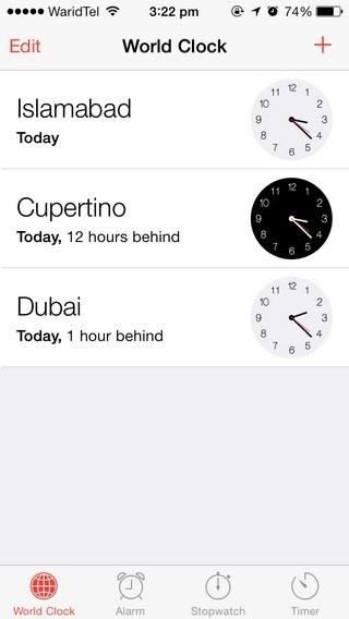 Clock iOS 7