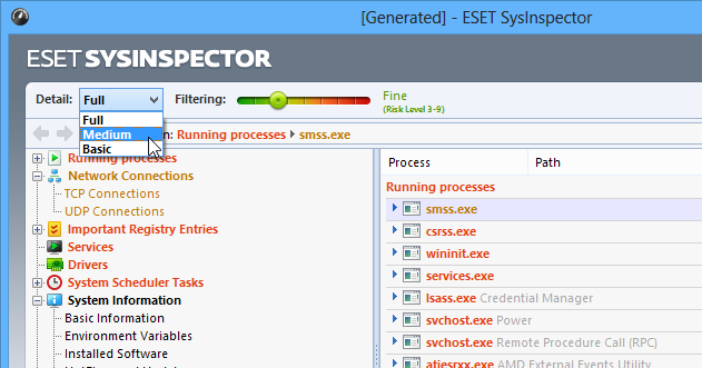 ESET-SysInspector-Risk-Level