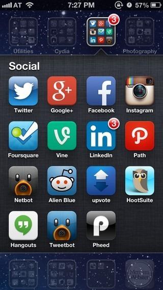 Folders iOS 6