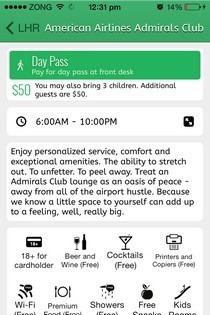 LoungeBuddy iOS Amneties