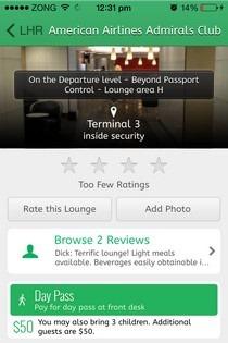LoungeBuddy iOS Lounge
