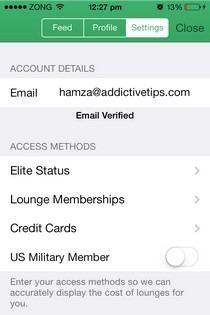 LoungeBuddy iOS Settings