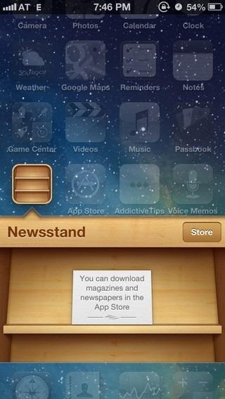 Newsstand iOS 6