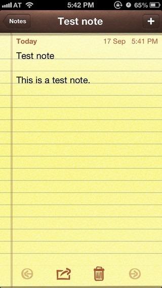 Notes iOS 6