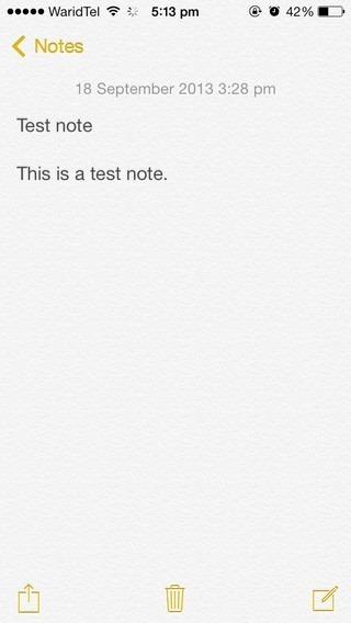 Notes iOS 7