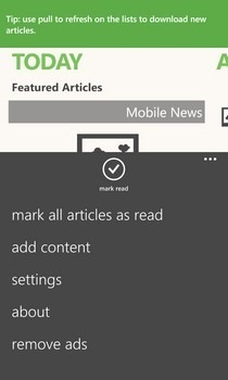 Phonly WP8 Options