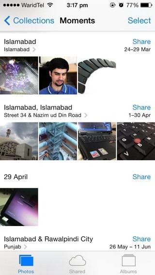 Photos iOS 7