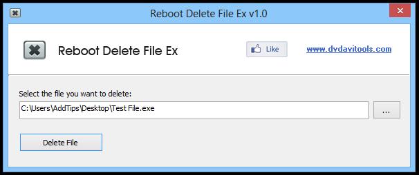Reboot Delete File Ex v1.0