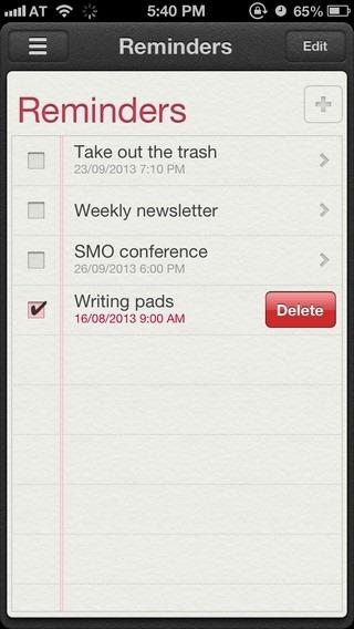 Reminders iOS 6