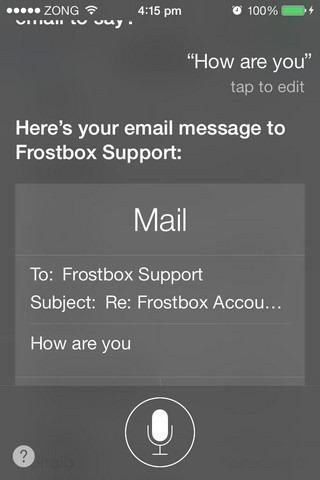 Siri iOS 7 Mail Reply