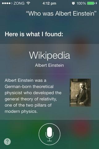 Siri iOS 7 Wkipedia