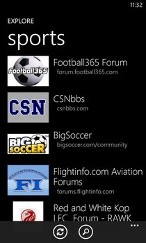 Tapatalk WP8 Categories