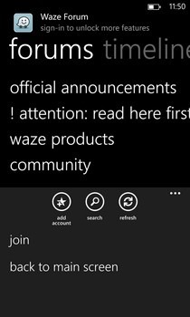 Tapatalk WP8 Forums