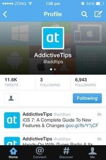 Twitter iOS 7 Profile