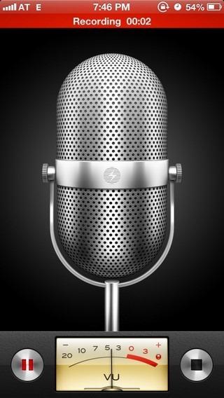Voice Memo iOS 6