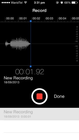 Voice Memo iOS 7