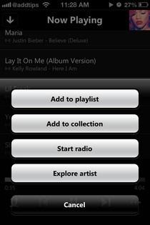Xbox Music App Options