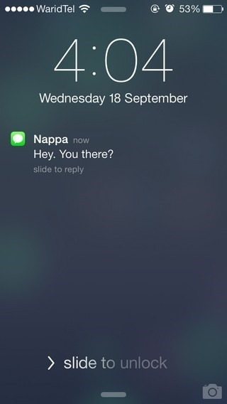 iOS 7 Lock Screen