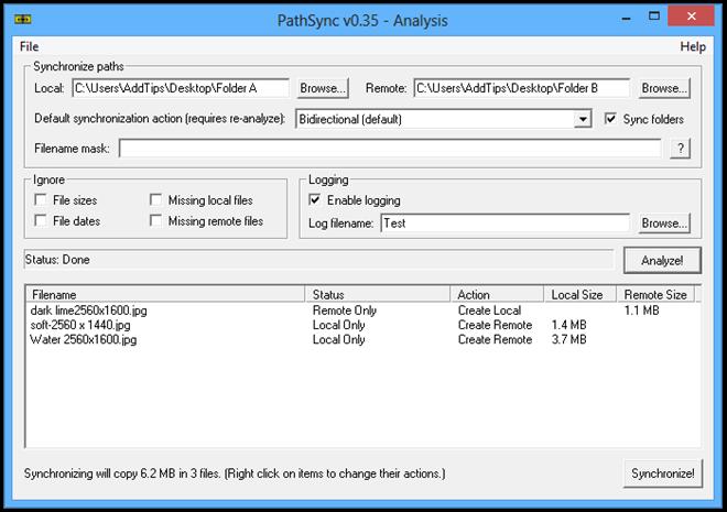 PathSync v0.35 - Analysis