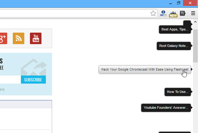 Scrollbar-of-Contents-Chrome-extension