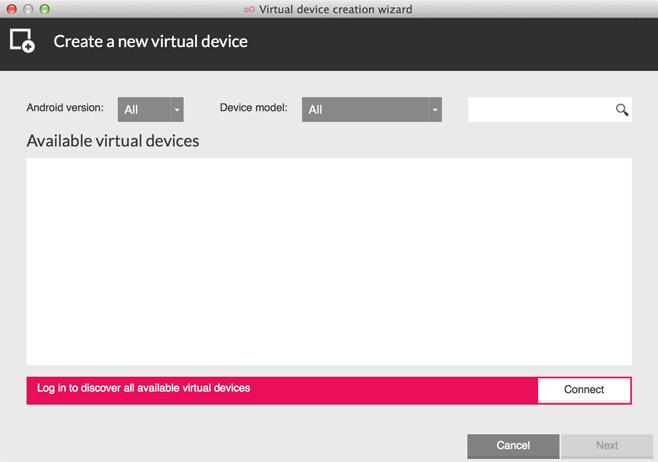 Genymotion Virtual Device Wizard
