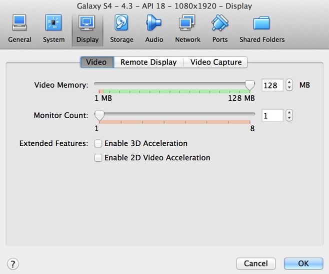 VirtualBox Video Memory