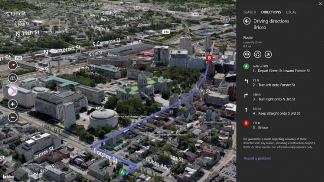 Bing Maps Preview 5