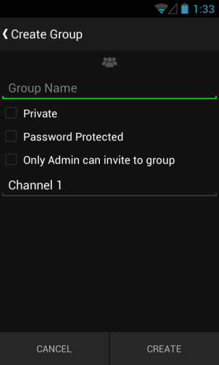 Razer Comms_Create Group