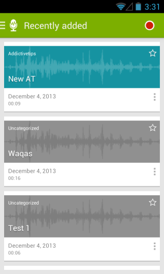 Recorder with Tags