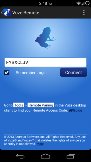 Vuze Remote for Android 04