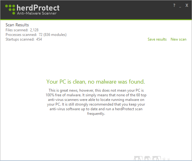 herdProtect Anti-Malware Scanner_Result