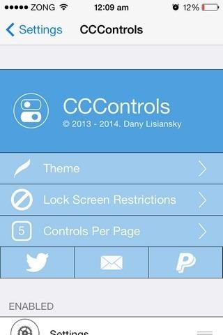 CCControls iOS Settings