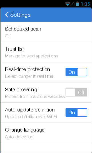 CM (Cleanmaster) Security_Settings