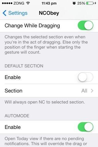NCObey iOS Settings