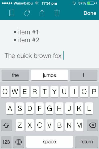 SwiftKey Note for iOS 1
