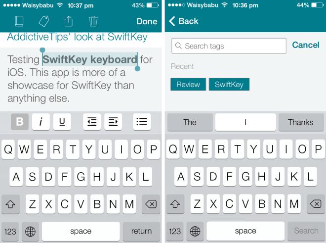 SwiftKey Note for iOS 2
