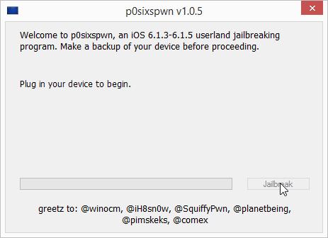p0sixspwn Untethered iOS Jailbreak for Windows