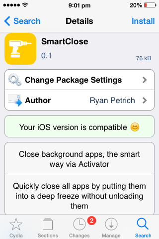 cydia smartclose for ios efficiently quit background apps save battery