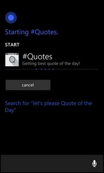 Make WP 8.1 & Cortana Read Out Quotes To You